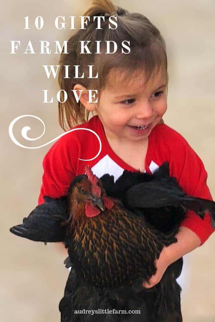 A Farm Kid Holding a Chicken