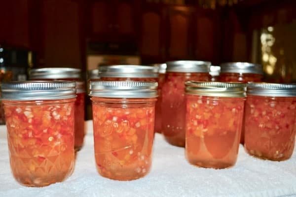 Jars of Habanero Pepper Jelly