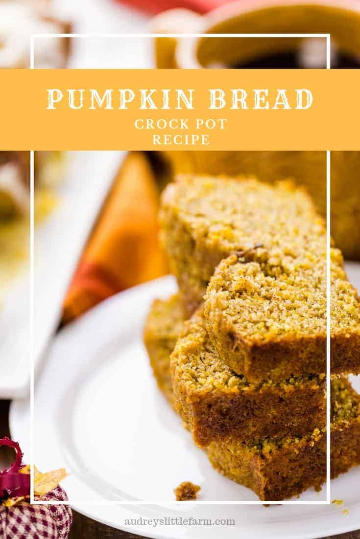 Pumpkin Bread on a Plate Next to a Cup of Coffee