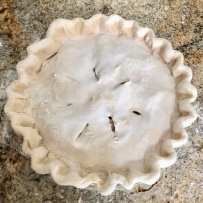 An Uncooked Homemade Apple Pie