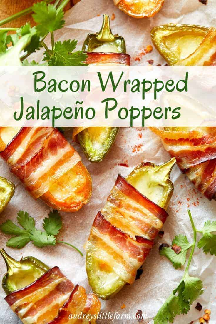 Bacon Wrapped Jalapeño Poppers Cooked in the Air Fryer