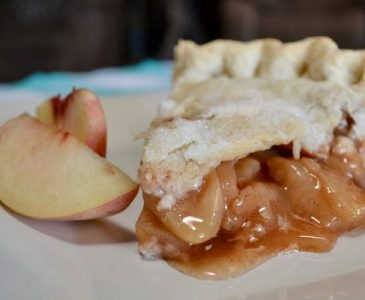 A Slice of Homemade Peach Pie
